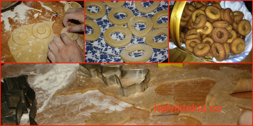 Bilete av baking av smoltringar og peparkaker.