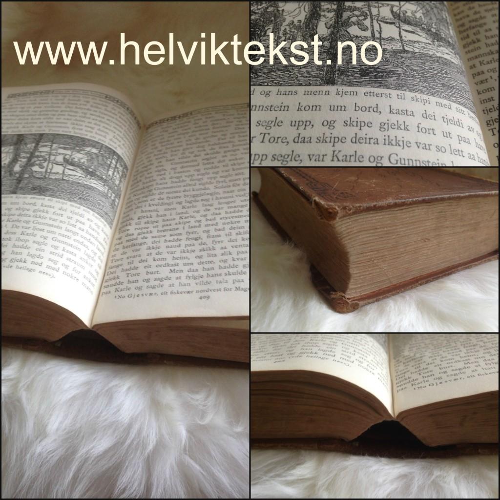 Bilete av ei gamal bok.